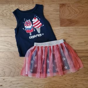 3/$15 4th of July outfit Patriotic Summer Skirt